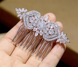 $enCountryForm.capitalKeyWord Australia - Stunning Full Zircon Hair Comb For Brides Bridesmaid Wedding Accessories Headpiece Women Headdress Ornament Rose Gold Silver Combs Clips