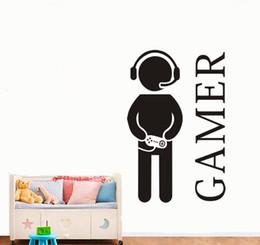 $enCountryForm.capitalKeyWord Australia - Gamer Wall Decal Murals Gaming Wall Vinyl Decal Video Games Joystick Decor for Play Room 40*60cm Removable