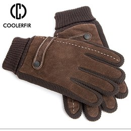 winter man genuine leather gloves NZ - Touch Screen Winter Warm Men's Gloves Genuine Leather Casual Gloves Mittens for Men Outdoor Sport Full Finger Glove