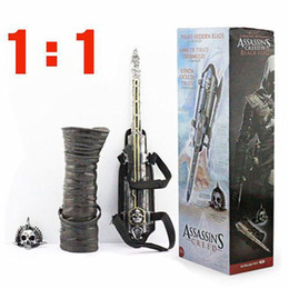 Weapons Cosplay Australia - 1:1 Pirate Blade Edward Kenway Cosplay Action Figure Model Kids Toys For Birthday Gifts Movie Props Hidden Weapon C19041501