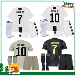 38f37076c Juventus kids boy kit 18 19  7 RONALDO home Soccer Jersey DYBALA Soccer  Shirt 2019 MARCHISIO MANDZUKIC PJANIC juve football uniform Sales
