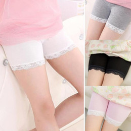 Lace For Cotton NZ - Kids modal cotton shorts 2018 summer fashion lace short leggings for girls safety pants baby short tights kids designer clothes girls