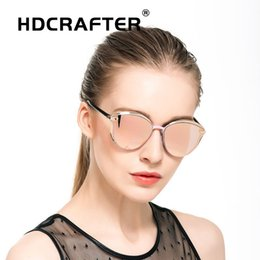 $enCountryForm.capitalKeyWord Australia - Luxary-ladies cat eye sunglasses women brand designer sun glass for female fashion alloy mirrored eyewear woman Gafas de sol mujer