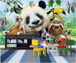 $enCountryForm.capitalKeyWord Australia - WDBH 3d wallpaper custom photo Cute cartoon zoo a group of animals self-timer living room home decor 3d wall murals wallpaper for walls 3 d