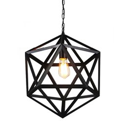 Lighted Light Switches Australia - Vintage Pendant Lights Black Iron Hemp Rope Pendant Ceiling Surface For Living Dinning Room Without Switch E27