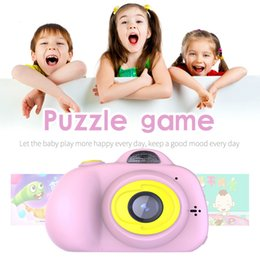 Toys Cameras Australia - Portable 1080P Mini Cartoon Cute Camera 2 Inch Screen Digital Camera For Children Kids Toddler Toys Camera For Boys Girls Gift