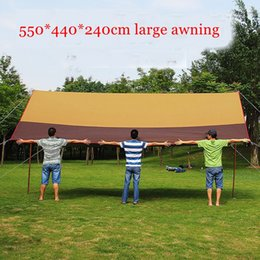 Large canopy online shopping - Canopy tent outdoor awning large anti UV advertising tent self driving sunshade awning with waterproof silver coated