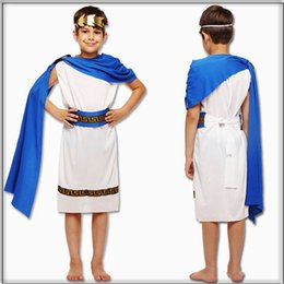 greek costumes Australia - kids Boys Ancient Greek mythology Zeus cosplay Fantasia Halloween Olympus God Costume Children King Carnival Masquerade Dress