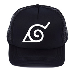 7794785446b Fashion Japanese Anime Naruto Ninja headband logo Baseball cap Summer Men  Women outdoor Mesh trucker cap snapback hats