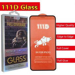Glare Free Screen Australia - 111D Full Glue Full Cover Tempered Glass Phone Screen Protector for iPhone XR XS X XS MAS 6S 6 6P 7 8 Plus with retail package dhl free ship