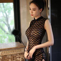 New Night Suit Australia - 2019 popular style long night lingerie women's new sexy lace cheongsam dress classical cheongsam set x