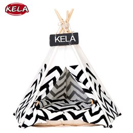 $enCountryForm.capitalKeyWord Australia - 2019 new creative stripped dog cat tent bed removable cozy house for puppy dogs cat small animals pet supplies foldable pet tent