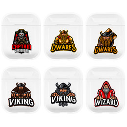apple airpods 2019 - Newest VIKING DWARFS Transparent PC earphone case bag For Apple airpods 1 2 Charging box Cover Protective box Support lo