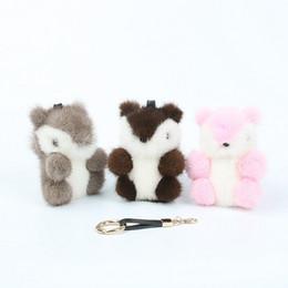 Discount backpack key chain - 2019 Moda de llavero Animal pequenos Ardilla llavero de Plata Chapado en entregar Coche Colgante Backpack key chain