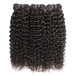 Chinese  Brazilian Jerry Curly Hair Extensions 3 Bundles Afro Style Natural Brown Peruvian Mongolian Raw Indian Virgin Human Hair Weave Bundles manufacturers