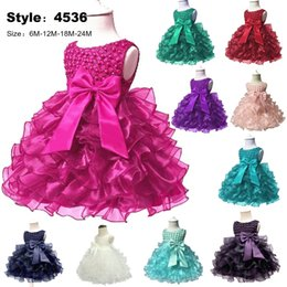 American Occasion Dresses Australia - Hot Lace flower girls wedding dress baby girls christening cake dresses for party occasion kids 1 year baby girl birthday dress