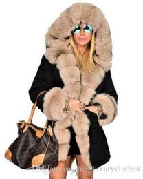 $enCountryForm.capitalKeyWord Australia - Women Long Down Jackets Thick Warm Winter Fur Collar Designer Coats Army Camouflage Military Down Parkas Coat