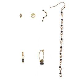 Man Made Diamonds Australia - 6 set noble gold color artificail glory black diamond eardrop pendant Women Brand girlfriend boyfriend gift crafts dinner accessoriese
