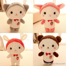 $enCountryForm.capitalKeyWord Australia - 25cm Cute strawberry kitten cat stuffed bunny goat baby doll Soft Stuffed Animal Toys Plush Toys cartoon action figures Stuffed doll kids