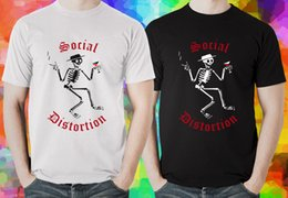 47c955aa SOCIAL DISTORTION Skeleton Hard Punk Rock Men's Black and White T-shirt  (XS-3XL)