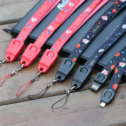 $enCountryForm.capitalKeyWord Australia - Fashion New Arrival Custom Lanyard USB Cable For Mobile Phone For iPhone Samsung Cell Phone Straps With USB Cable Can Custom Your Design