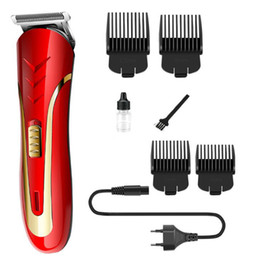 Red Cutter Australia - KEMEI KM-1409 Hair Clipper Electric Hair trimmers with Carbon Steel Head Rechargeable Hair Cutter DHL Free