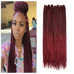 synthetic afro hair sale NZ - Fasgion 1Bundles Hot Sale! Crochet 3X Box Braids Afro Twist Hair Extension Box Braids Hair African Braiding Synthetic Hair Crochet Twist Bug