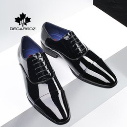 spring office fashion NZ - Men Business Dress Shoes Male 2020 Spring Fashion Office High Quality Mirror Leather Footwear Brand Formal Shoes Men Men Shoes