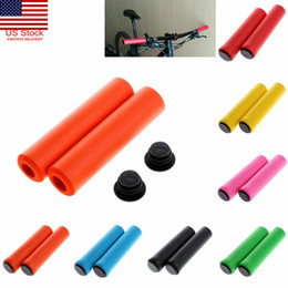 Soft bicycle gripS online shopping - 1Pair MTB Soft Foam Silicone Sponge Handle Bar Grips Handlebar Bike Bicycle