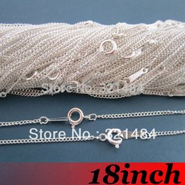 $enCountryForm.capitalKeyWord NZ - Free Ship! 100piece 2mm 18'' Silver Plated Curb Metal Link Chain Necklace with Spring Clasp Findings For Pendant Jewelry