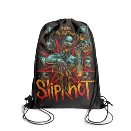 $enCountryForm.capitalKeyWord UK - Drawstring Sports Backpack Slipknot Band member vintage daily sack pouch Travel Fabric Backpack