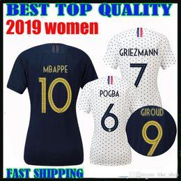 copa del mundo 2019 Francia MBAPPE GRIEZMANN POGBA camiseta de fútbol de las mujeres Camiseta de fútbol LEMAR home femmes 19 20 francesa francia maillot de foot