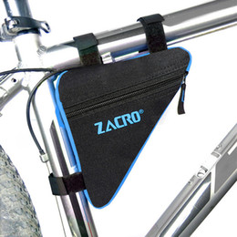 e1e707d2586 Ciclismo Bolsas de bicicleta Triángulo Bolsa de bicicleta Marco de tubo  delantero Impermeable MTB Road Pouch Holder Sillín Bicicleta Bicicleta  Accesorios