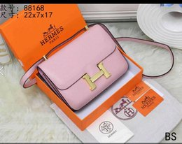Rabbits patteRns online shopping - Fashion female bag top layer leather lychee pattern shoulder diagonal H buckle bag