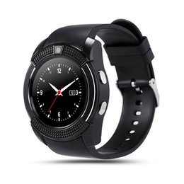 Bluetooth Smart Watch Sim Australia - Bluetooth Smart Watch 1.22'' Round Screen with SIM   TF Card Clock Camera SmartWatch Wristwatch for Android iOS Phone