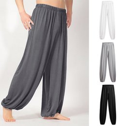 Yoga Pants Men Loose NZ - Brand Men Pants Hip Hop Harem Joggers Fashion Men's Casual Solid Loose Sweatpants Trousers Jogger Dancing yoga Pant Z314