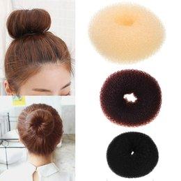 Donut Buns For Hair Australia - M MISM 1PC Updo Sponge Bun Hair Maker Making Tool Donut Hair Accessories Elastic Band For Women Girls Headdress
