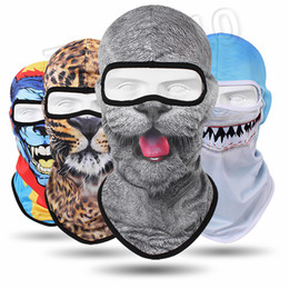 3d animal face mask NZ - winter Animals soprt styles 3D Animal Beanie Outdoor Bicycle hats Cycling masks Motorcycle Skis Hats Sports caps Party Masks 5189