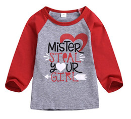 47bce19eb 2019 Summer Baby Boys Girls Tops Mister Steal your Girl Letter Printed Long  Sleeve Shirts Tee Pullover