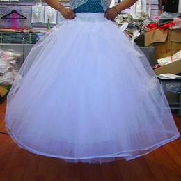 $enCountryForm.capitalKeyWord Australia - Cheap Hot 4 Layers NO Hoop Net Petticoat Wedding Dress Ball Gowns A Line Crinoline Quinceanera Dresses Petticoats Bridal Wedding Accessories