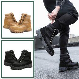 $enCountryForm.capitalKeyWord Australia - 1England Genuine Leather Ladle Head Steel Basic Training Work Boots Labor Insurance Shoe Comfortable Ventilation Non-slip Defence Puncture