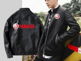 Korean Motorcycle Jacket Australia - Men's fashion yamaha motorcycle leather Korean version of the slim jacket yamaha leather classic car sheepskin hooded jacket
