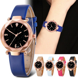 soft clock 2019 - D01-C Trendy Soft PU Leather Watch Fashion Women Watches Wristwatch Clock For Women Ladies Female Students Gifts cheap s