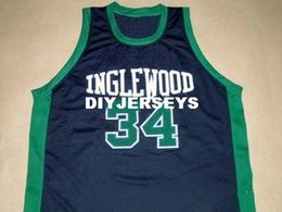 China Cheap Mens PAUL PIERCE INGLEWOOD HIGH SCHOOL JERSEY BLACK NEW - ANY SIZE XS - 5XL Retro Basketball Jerseys supplier xs piercing suppliers
