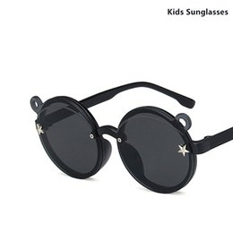 circle shades Australia - Cute Circle Sunglasses Kids Shades Lovely Children Sunglasses with Ears Baby Girl Boys Sun Glasses UV400 Star Decoration
