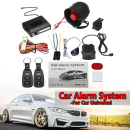 Discount vehicle anti theft - Universal One Way Car Burglar Protection Alarm Security System Keyless Entry Siren +2 Remote Controller Vehicle Anti-the