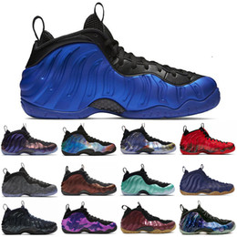 Air penny shoes online shopping - TOP Penny Hardaway men basketball shoes air foamposite one Vandalized Paranorman Obsidian Olympic mens trainers Sports Sneakers