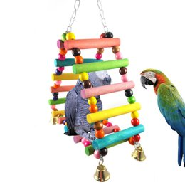 Bird Climbing Toys NZ - Bird Toys Parrot Articles To Climb Ladder Scaling Ladder Triangle Climb The Ladder Swing Color Pearl River Delta Swing 255g