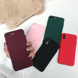 Cell Phones Dhl Shipping Australia - New Arrival Candy Colour Cell Phone Shell For Iphone 7 7plus 6 6s Hard Cases Full Body With OPP Package DHL Shipping