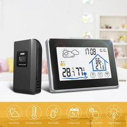 $enCountryForm.capitalKeyWord NZ - Fashion New Touch Screen Indoor Outdoor Electronic Thermometer Hygrometer Wireless Fashion New Touch Screen Thermometer